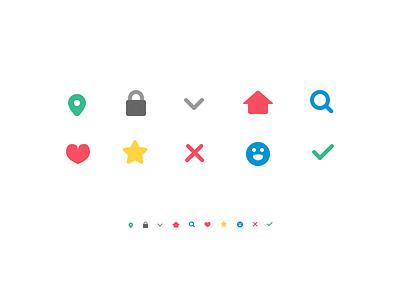 Icon set sketch vector glyphs icons