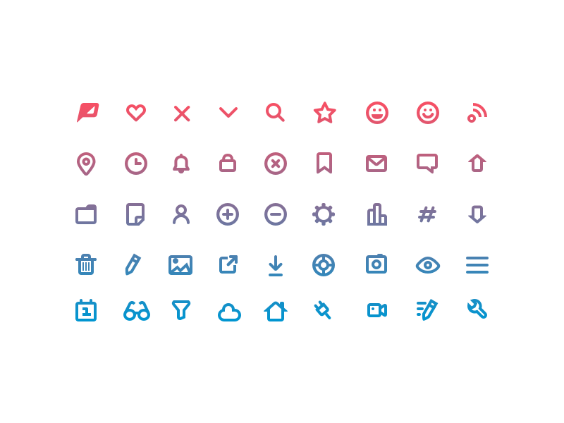 Custom Icons mynewsdesk poptype glyphs icon pack icons