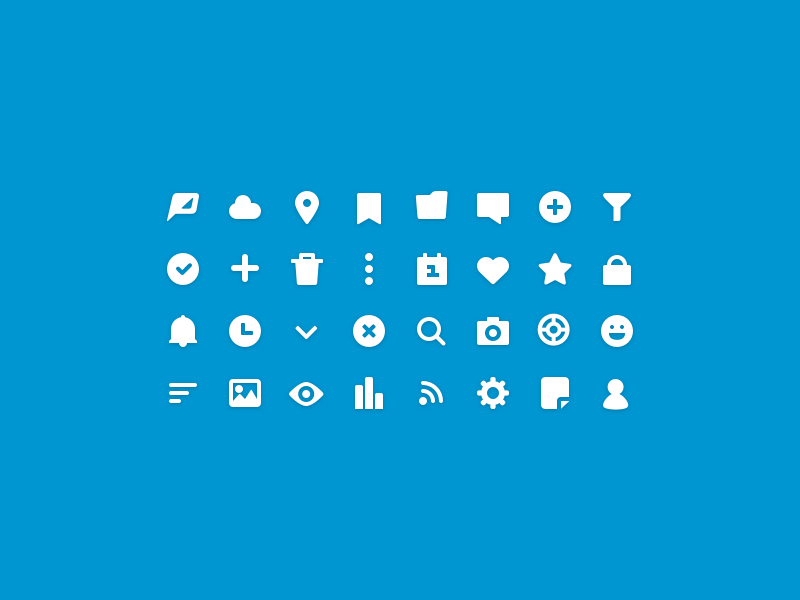 Solid Popicons poptype icon set solid glyphs icons popicons