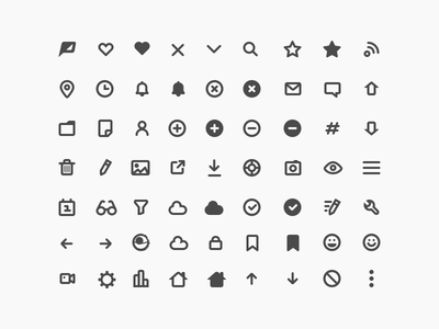 Popicons (Mixed) poptype popicons icons pack solid glyphs icons