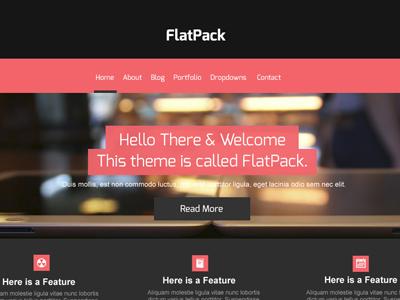 Flatpack Theme wordpress theme