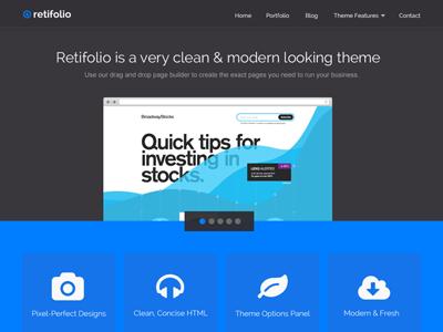Retifolio flat wordpress business theme