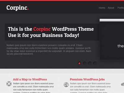 Corpinc wordpress theme