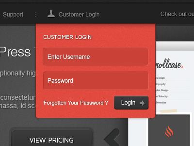 Login wordpress theme login box