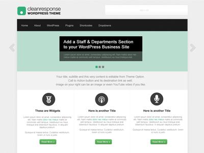 CleanResponse free wordpress theme