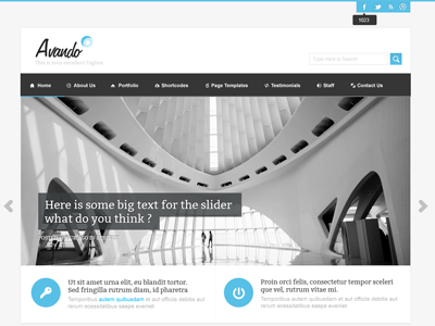 Avando WordPress Theme 2 wordpress business theme