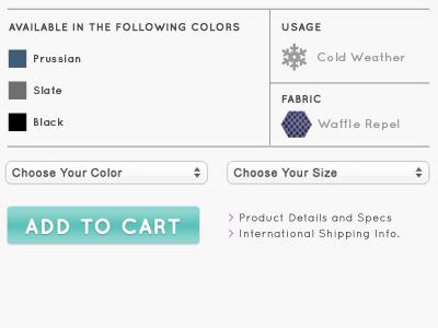 Product Details website e-commerce