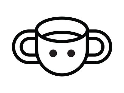 Coffee Friend coffee logo black and white