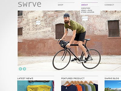 Swrve website e-commerce cycling apparel
