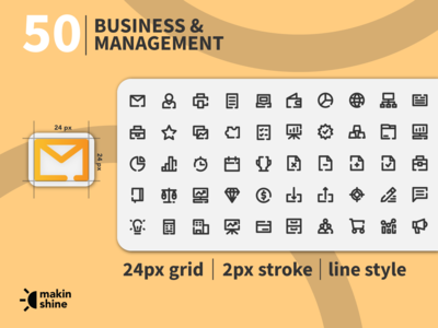 Business & Management Icons pack