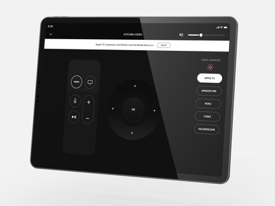 Custom Crestron Design - Apple TV Controls ipad pro ios video audio button remote apple tv smart home home automation user experience icon user interface app ui design ux crestron