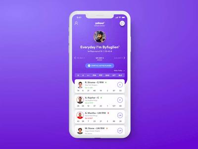 Yahoo! Fantasy Hockey for iOS