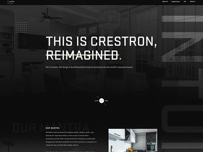 Intuitiv Website Design gradient color crestron template crestron theme saas smart home home automation dark theme typography user interface user experience ui ux webdesign website design website intuitiv crestron