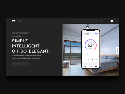 Wenner Redesign + Rebuild smart home home automation crestron typography web design website interface web icon user experience user interface ui design ux