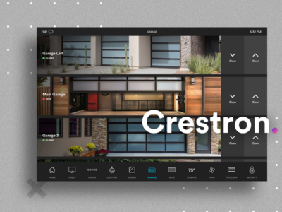 Crestron Home Automation System - Garage Control
