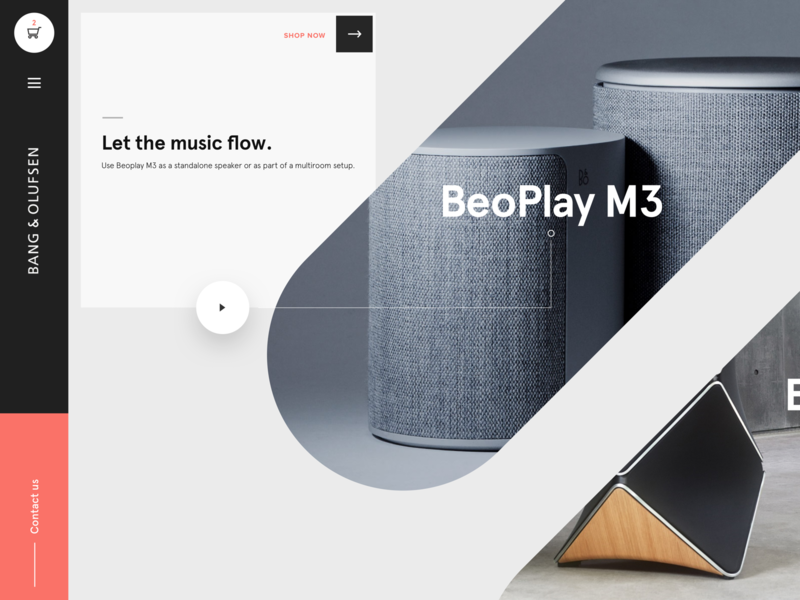 B&O Landing speakers music photography background minimal branding creative typography clean web design user experience website color interface user interface icon web ui design ux