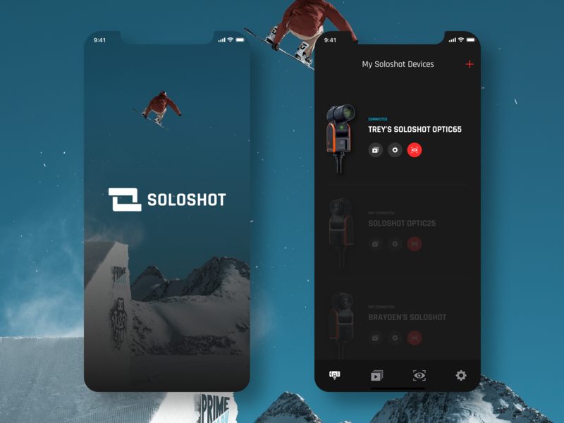 SOLOSHOT iOS App sports ux design ui flat app user interface icon interface color user experience iphonexs ios mobile app clean creative art minimal