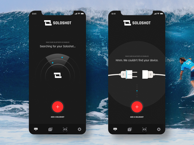 SOLOSHOT Device Search minimal art creative clean mobile app ios iphonexs user experience color interface icon user interface app flat ui design ux sports