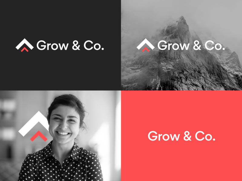 Grow & Co. Branding typography typeface web design branding logo clean interface user experience app flat ui design ux
