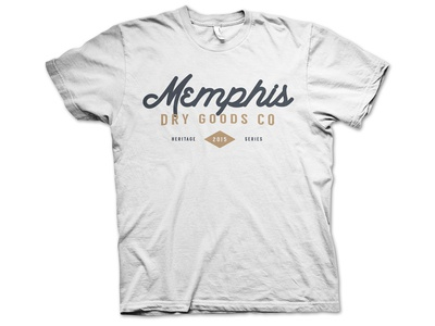 Concept - Branding & Visual Identity (Memphis Dry Goods) vintage memphis typography shirt clothing shirt design shirts apparel logo branding