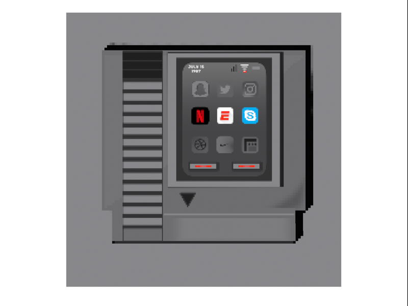 Retro nes iphone app nintendo gaming retro design classic