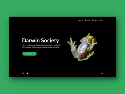 Darwin Society landing page