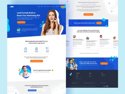 Lead Funnel Homepage Design design website user experience design analytics homepage marketing roi leads funnels leads funnels leads seo conversion rate optimisation conversion funnel template funnel