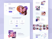 WowSmile Homepage Design-V2 website concept website design website healthcare health doctors colorful design homepage white teeth dental website design dental clinic dental care dentistry dental smile teeth smile
