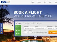 UI/UX Design concept for GS Travel sa is a travel company.