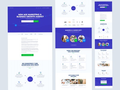 Epoch Agency Homepage uikreative website landingpage homepage funnel leads digital marketing seo seo services seo agency marketers marketing agency