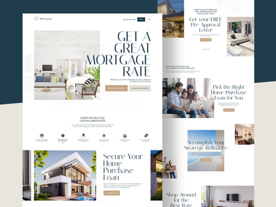 Mortgage Home Page real estate website landingpage real estate landing page finance landing sales seo conversion leads insurance loan debt home house property real estate mortgage uikreative