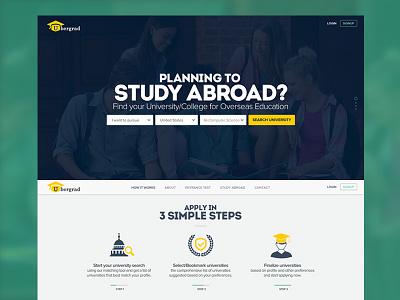 Ubergrad Website Design web design uiux user interface design ui design responsive colors website college travel university study study abroad