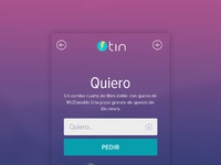 Tin search screen
