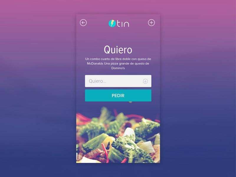 Tin: iOS 7 App Design application ios mobile app minimal login register restaurant user experience design ui design food