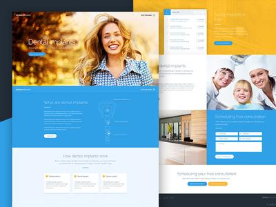Dentalimplant: Homepage design concept