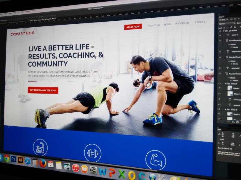 Crossfit Hale: Homepage design gym fitness homepage workout clean website responsive landing sales ui design user experience design webdesign
