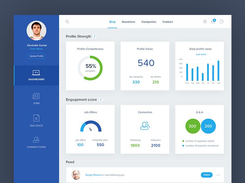 MySeaTime: Dashboard Design graphs user experience design ui design reports website clean simple charts dashboard analytics analytical admin