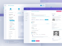 Sociamonials: Dashboard design work