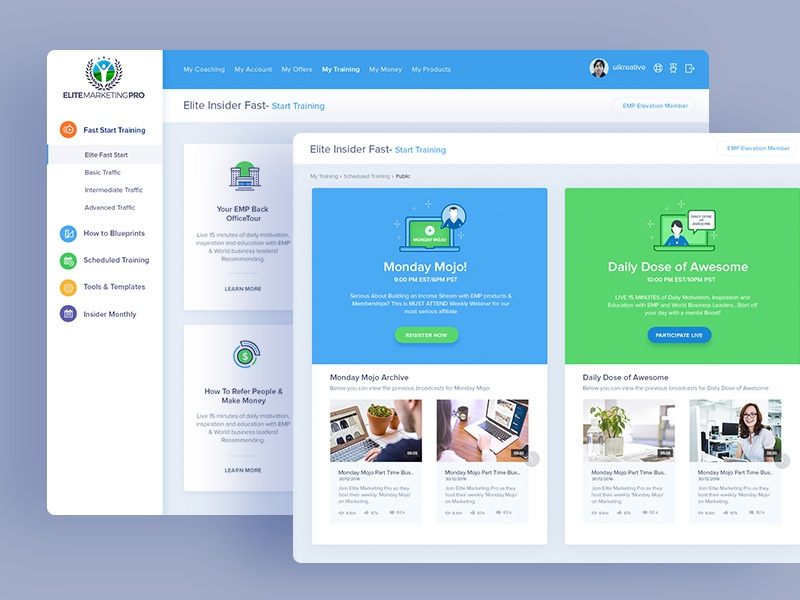 Elite Marketing Pro: Dashboard Design dashboard web analytical ui design landing page website sale page seo conversion admin graphs marketing