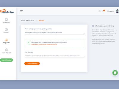 ProSatisfaction: Admin Dashboard Design Work uiux designer uikreative facebook user experience design ui design reports website feedback rating charts dashboard analytics analytical review