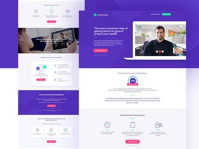 Handyadvice: Homepage Design Concept