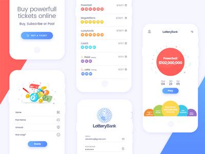Lottery-Bank: Mobile app design