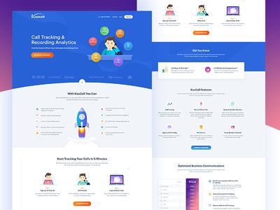 Kuucall: Homepage Design Concept finances phone call responsive communication homepage analytics conversation free design web website