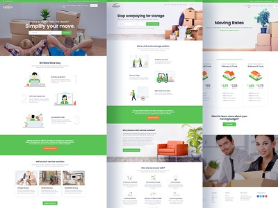 Rainbow Movers : Website Design