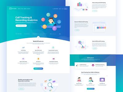 Kuucall: Homepage Design Version-2 website web design free conversation analytics homepage communication responsive call phone finances