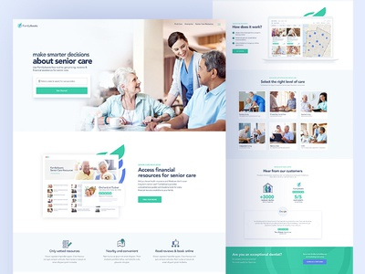 FamilyAssets: Website Design clean homepage website care finance home insurance families senior care healthcare