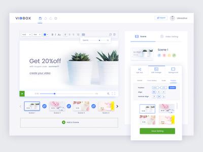 VidBox: Dashboard Design Progress