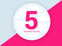 5 Dribbble Invites :)