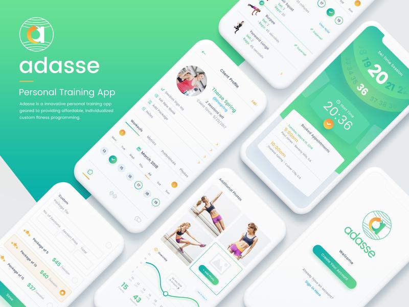 Adasse Beta 2: Mobile App Design android ios gym health app gym app medicals workout health app dashboard website analytics charts analytical workout app