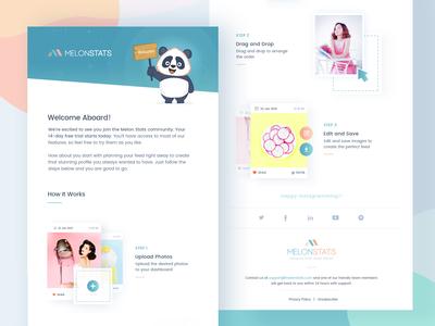 Melonstats: Email Newsletter design concept